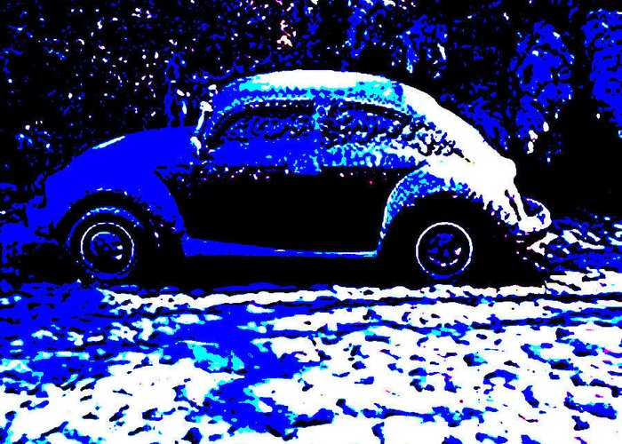 Vw Greeting Card featuring the photograph Punky Valentine Snow by Curt Curt