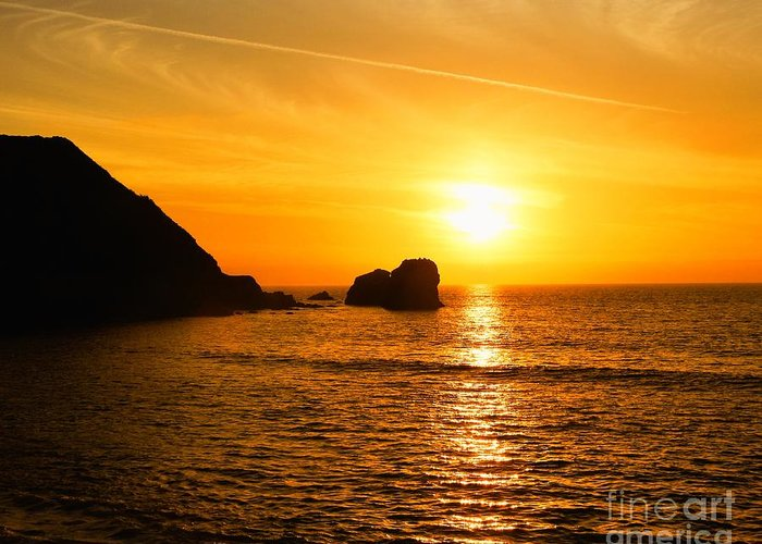Pure Gold-sunsets Greeting Card featuring the photograph Pure Gold by Scott Cameron