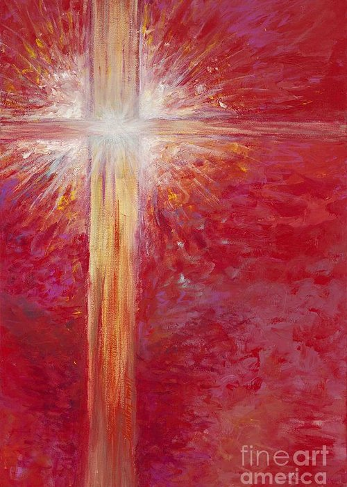 Light Greeting Card featuring the painting Pure Light by Nadine Rippelmeyer