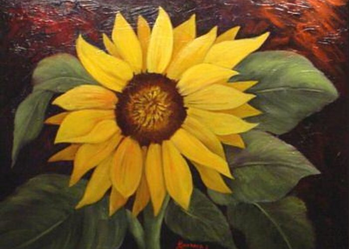Still Life Greeting Card featuring the painting Pure Sunshine SOLD by Susan Dehlinger