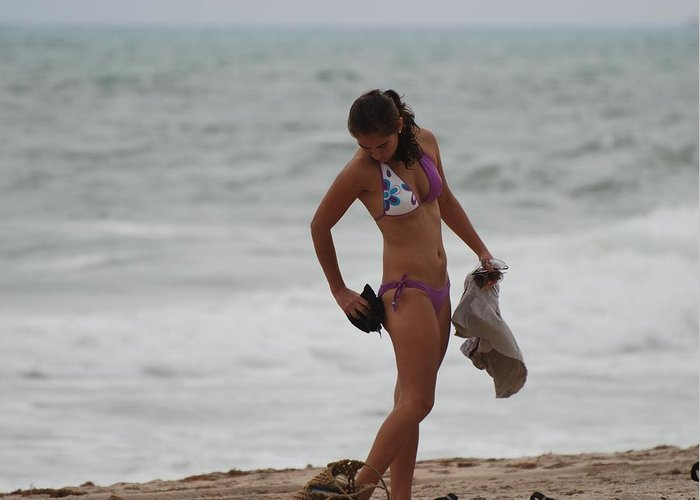 Bikinis Greeting Card featuring the photograph Purple Bikini by Rob Hans