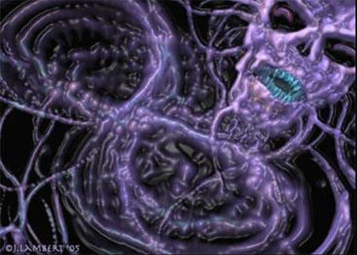Purple Greeting Card featuring the digital art Purple by J P Lambert