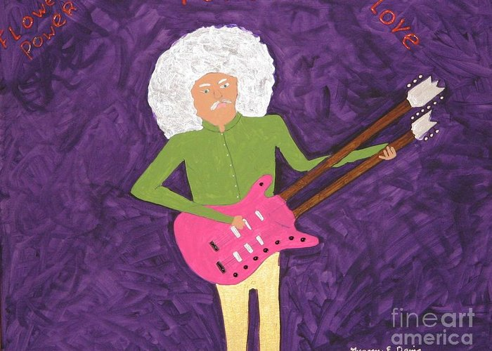 Music Greeting Card featuring the painting Purple Love by Gregory Davis