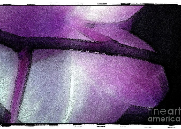 Nature Greeting Card featuring the digital art Purple Orchid by Michael Ziegler