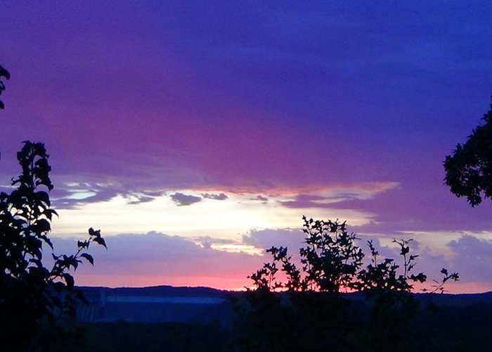 Purple Sunset Greeting Card featuring the photograph Purple Passion by Toni Berry