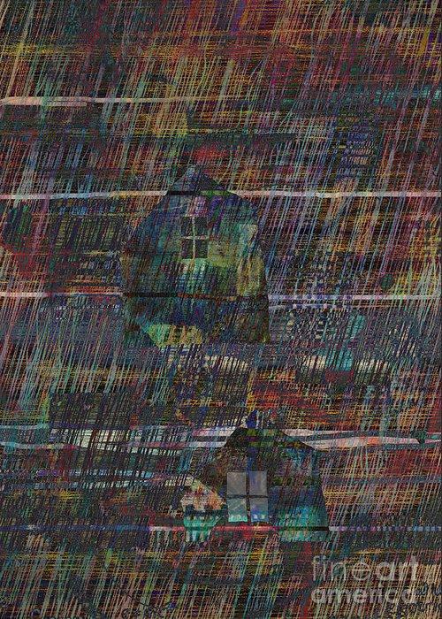 Rain Greeting Card featuring the digital art Purple Rain by Andy Mercer