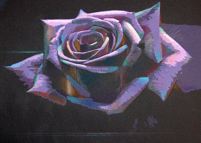 Rose Greeting Card featuring the photograph Purple Rose by Barry Shereshevsky