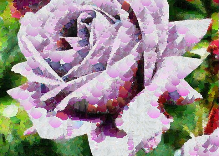 Purple Rose Painting Greeting Card featuring the painting Purple Rose Painting by Catherine Lott