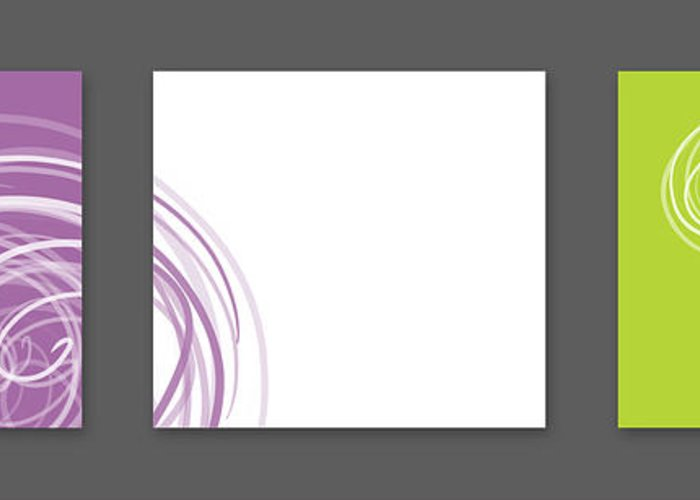 Abstract Greeting Card featuring the digital art Purple Twirl by Nomi Elboim
