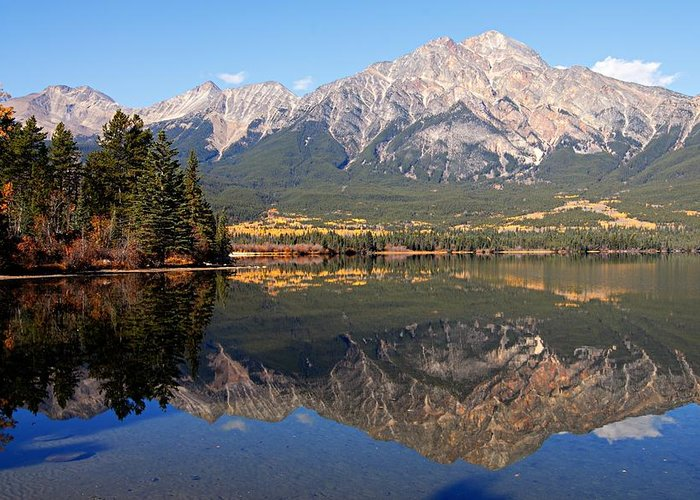 Pyramid Mountain Greeting Card featuring the photograph Pyramid Mountain And Pyramid Lake 2 by Larry Ricker