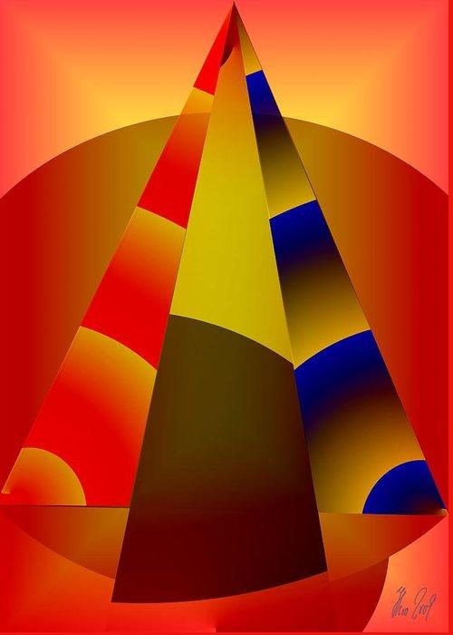 Pyramids Greeting Card featuring the digital art Pyramids Pendulum by Helmut Rottler