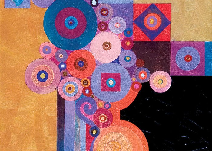 Abstract Painting Greeting Card featuring the painting Pythagorean Abstract II by Bob Coonts