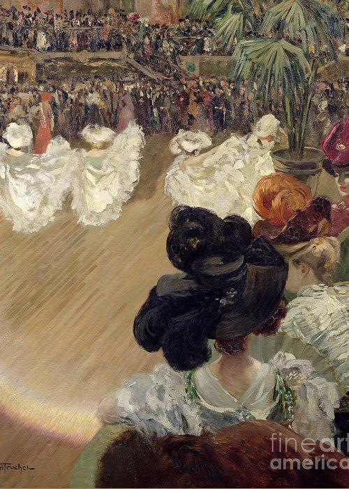 Quadrille Greeting Card featuring the painting Quadrille At The Bal Tabarin by Abel-Truchet