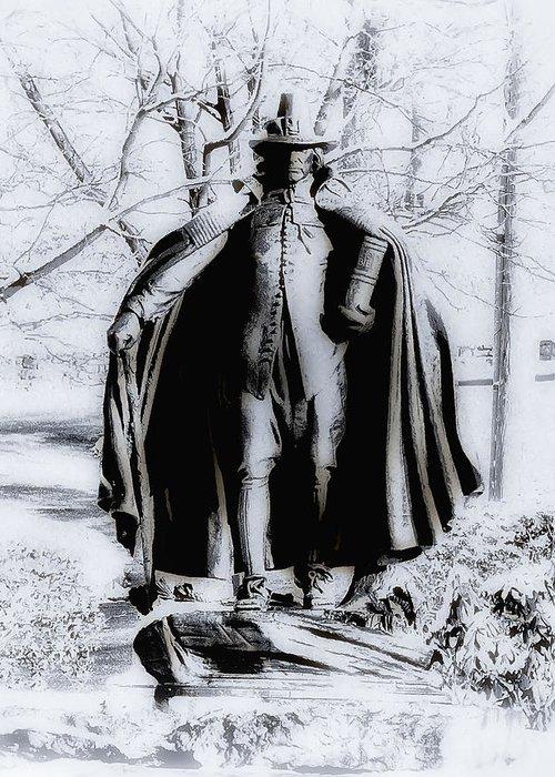 Fairmount Park Greeting Card featuring the photograph Quaker Pilgrim by Bill Cannon