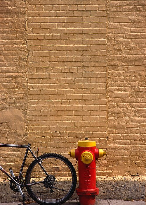 Bicycle Greeting Card featuring the photograph Quebec Hydrant by Art Ferrier