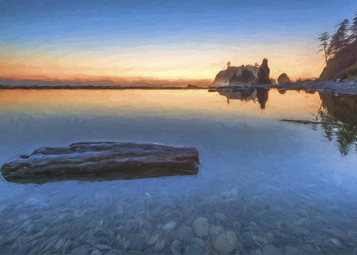 Art Greeting Card featuring the digital art Quiet, Alone And Still II by Jon Glaser
