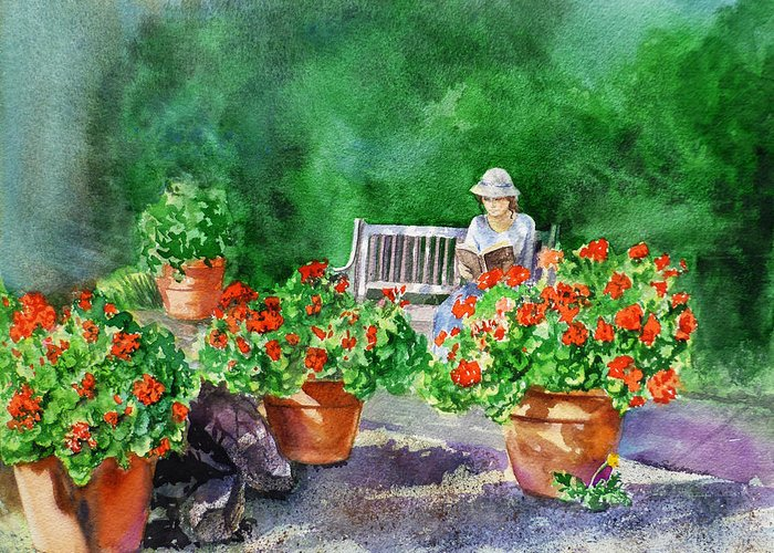 Sunlight On Pots Paintings Greeting Cards