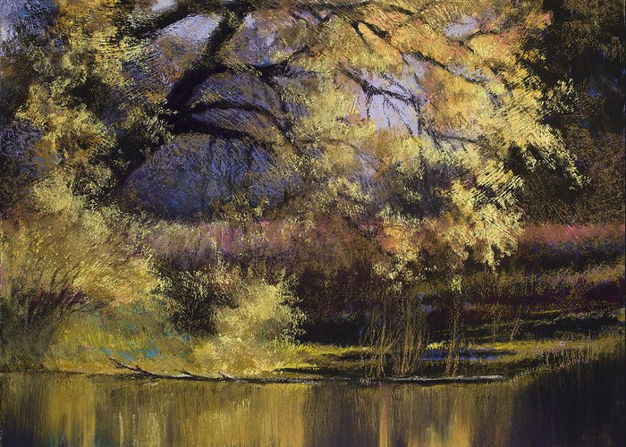 Water Greeting Card featuring the painting Quiet Waters by Vicky Russell