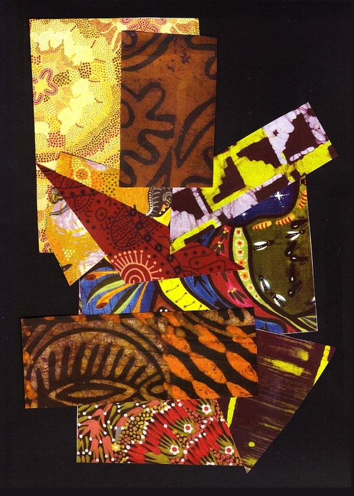Abstract Greeting Card featuring the mixed media Quilting Thoughts by Bee Jay