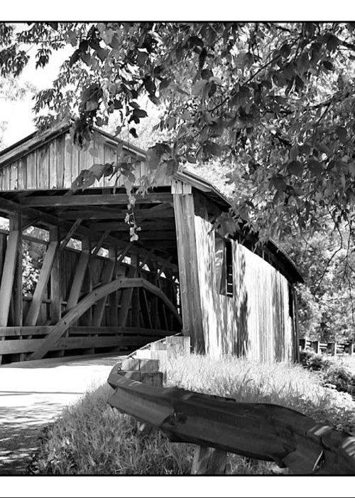Cove Greeting Card featuring the photograph Quinlan Bridge by Deborah Benoit