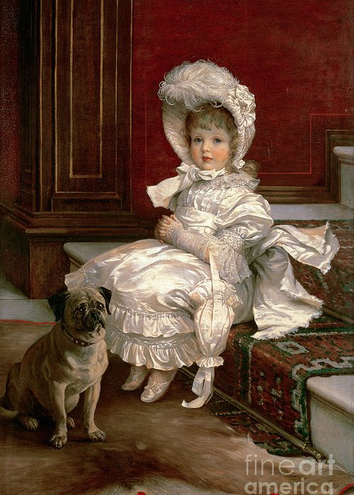 Quite Ready (oil On Canvas) By Philip Richard Morris (1838-1902) Greeting Card featuring the painting Quite Ready by Philip Richard Morris