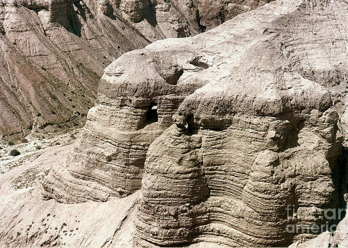 Ancient Greeting Card featuring the photograph Qumran: Dead Seal Scrolls by Granger