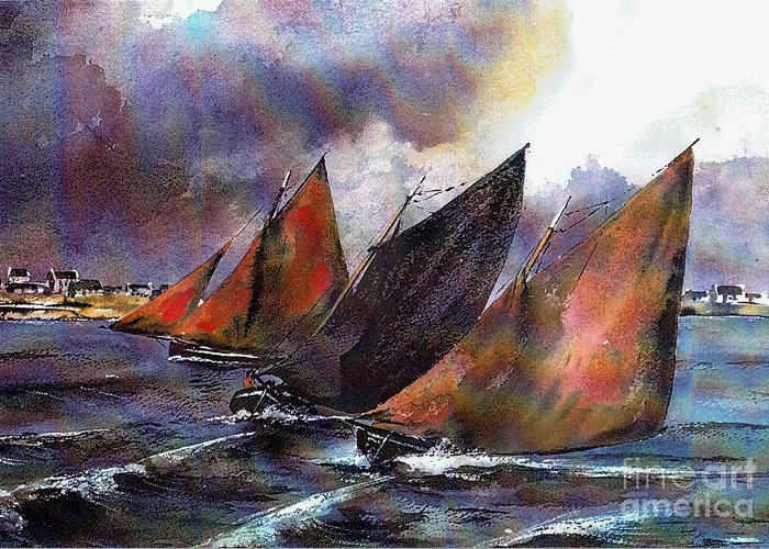 Galway Hooker Greeting Cards