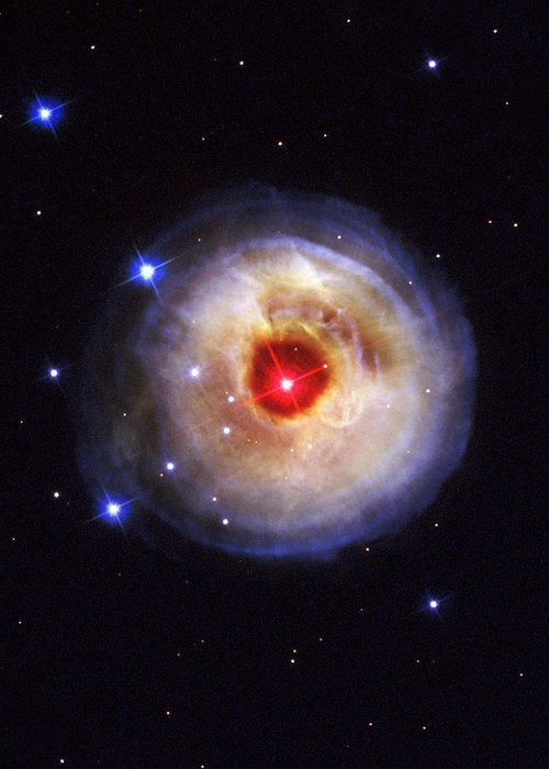 Galaxy Greeting Card featuring the photograph Radiation From A Stellar Burst by ESA and nASA