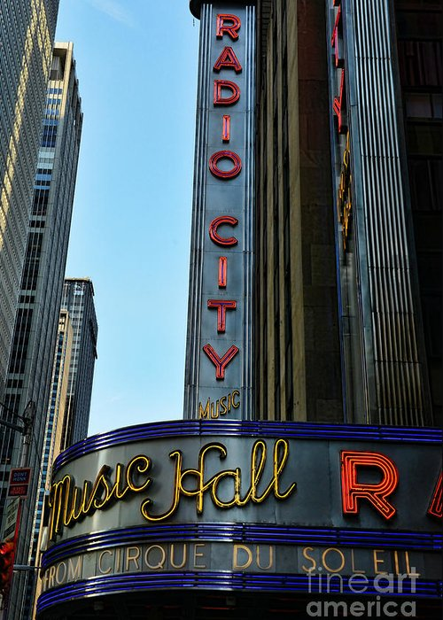 Radio City Music Hall Greeting Card featuring the photograph Radio City Music Hall by Paul Ward