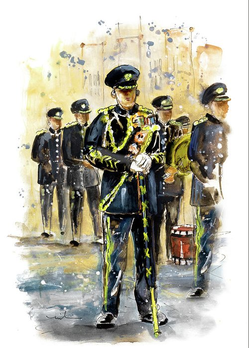 Travel Greeting Card featuring the painting Raf Military Parade In York by Miki De Goodaboom