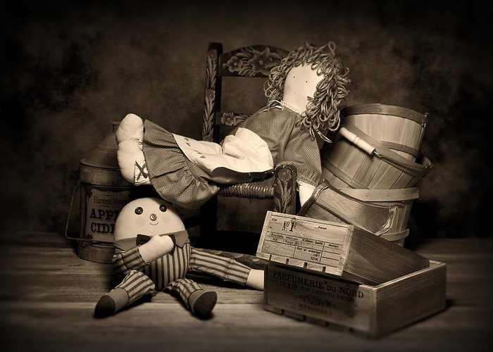 Toys Greeting Card featuring the photograph Rag Doll by Tom Mc Nemar