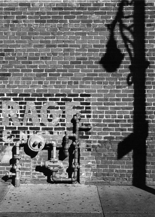 Urban Greeting Card featuring the photograph Rage And Shadow by Jim Furrer