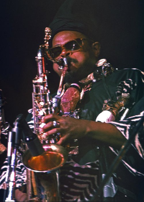 Rahsaan Roland Kirk Greeting Card featuring the photograph Rahsaan Roland Kirk 4 by Lee Santa