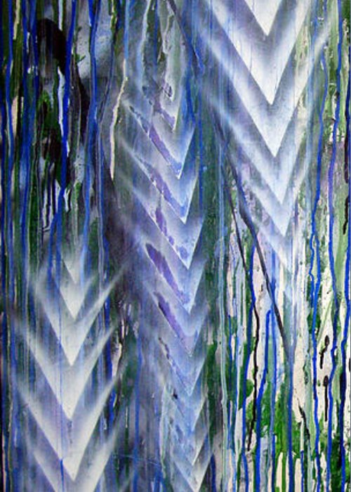 Rain Greeting Card featuring the painting Rain 2 by Leigh Odom
