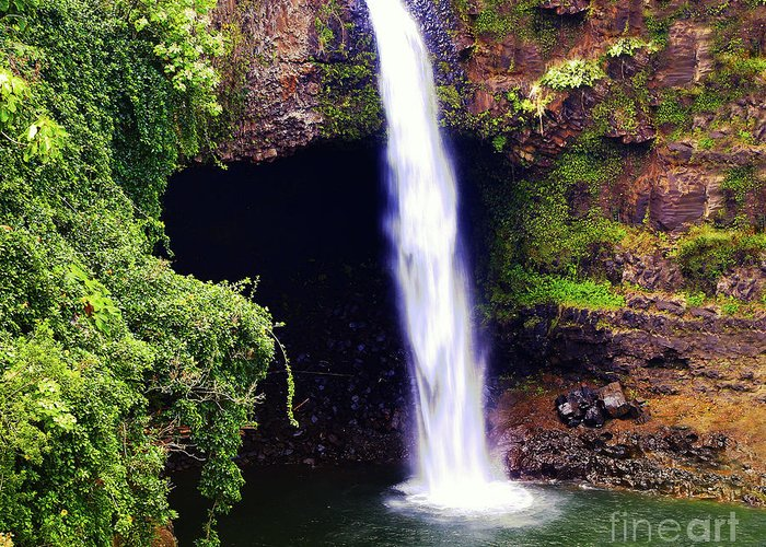 Waterfall Photography Greeting Card featuring the photograph Rainbow Falls Iv by Patricia Griffin Brett