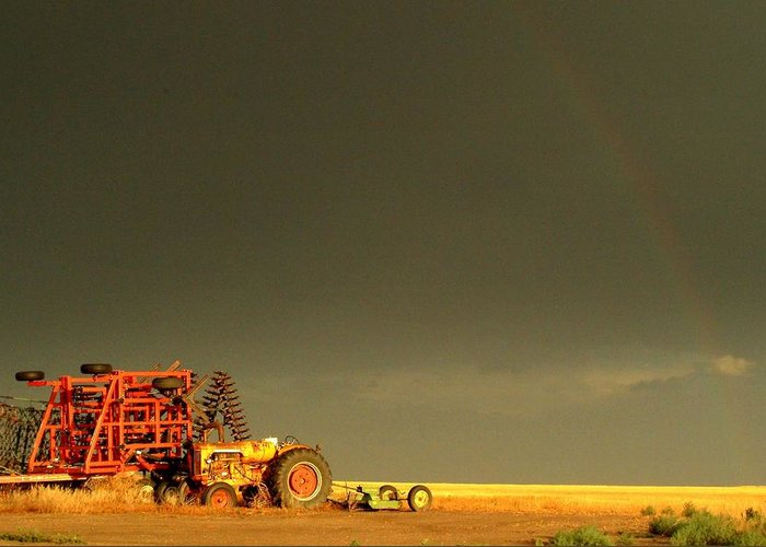 Rainbow Greeting Card featuring the photograph Rainbow Harvest.. by Al Swasey