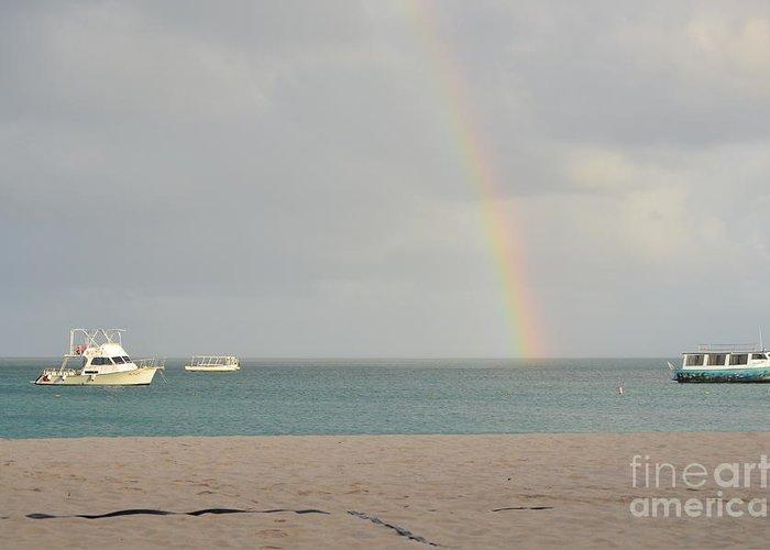 Rainbow Greeting Card featuring the photograph Rainbow In Aruba by DejaVu Designs