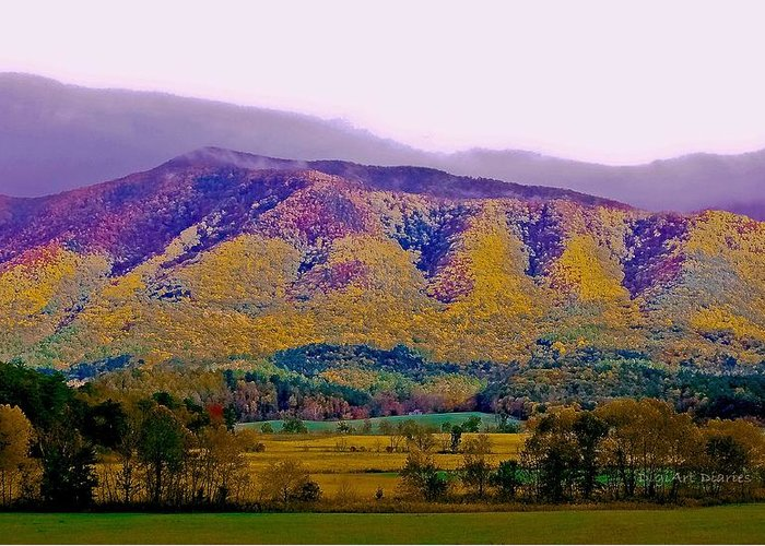 Smokey Mountains Greeting Card featuring the photograph Rainbow Mountain by DigiArt Diaries by Vicky B Fuller