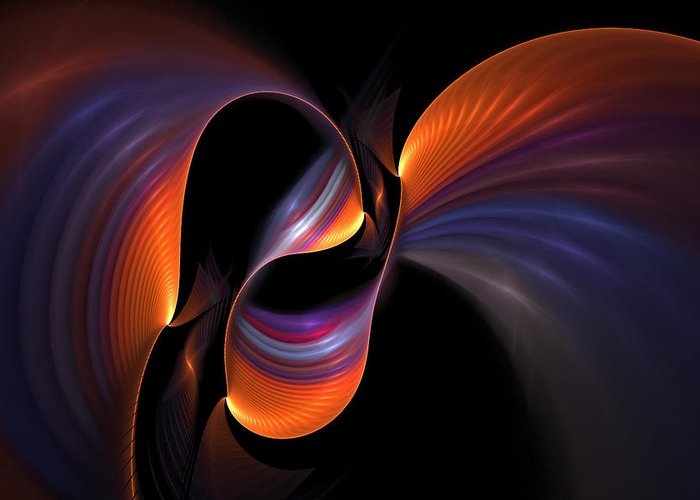 Light Greeting Card featuring the digital art Rainbow Tango by Doug Morgan