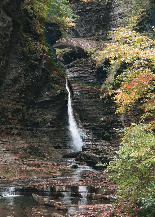 Water Falls Greeting Card featuring the photograph Rainbow Water Falls by Nicholas J Mast