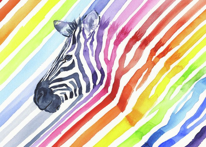 Zebra Patterns Greeting Cards