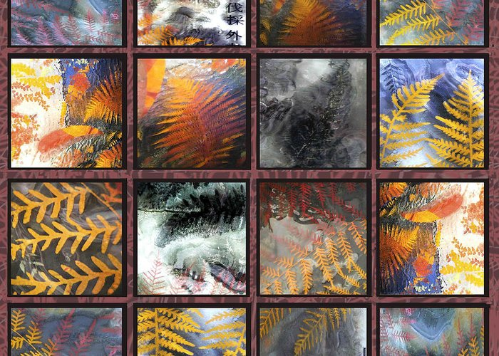Glass Tiles Greeting Card featuring the sculpture Rainforest Remnants by Sarah King