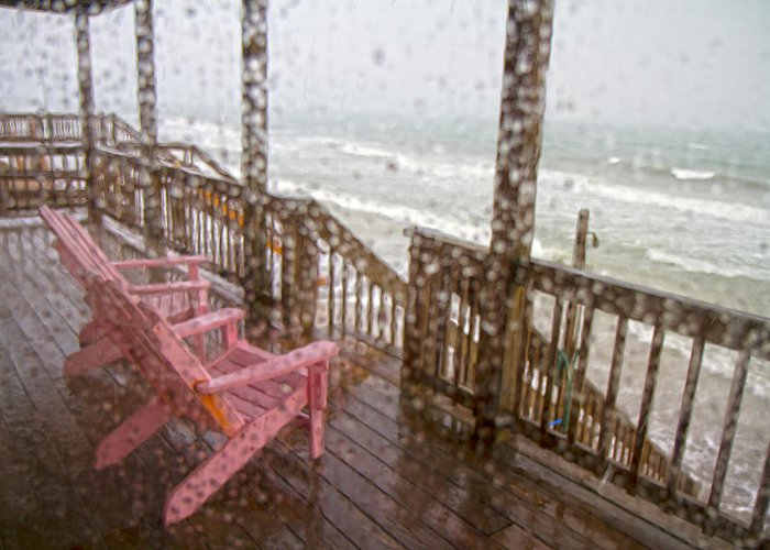 Topsail Greeting Card featuring the photograph Rainy Beach Evening by Betsy Knapp