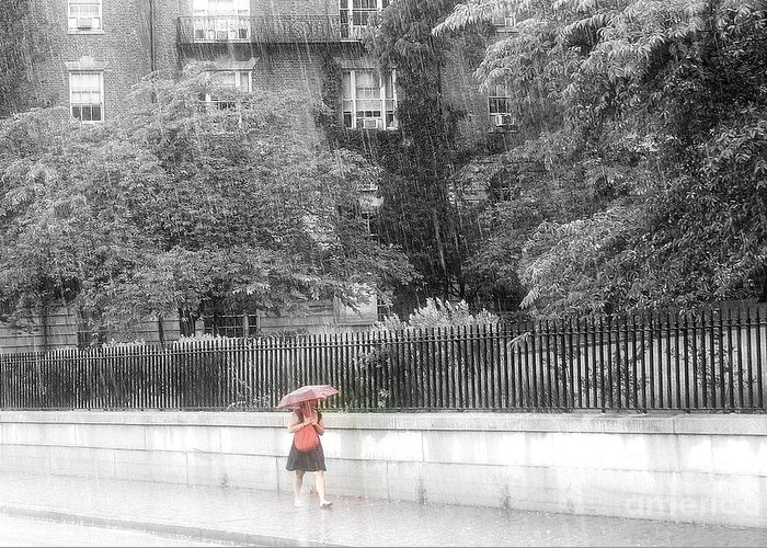 Rain Greeting Card featuring the photograph Rainy Day by Julie Lueders