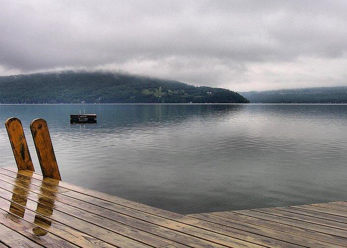 Keuka Lake Greeting Card featuring the photograph Rainy Day Keuka by Steven Ainsworth