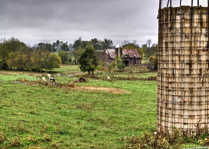 Rainy Greeting Card featuring the photograph Rainy Day On The Farm by Douglas Barnett