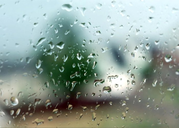 Rainy Greeting Card featuring the photograph Rainy Window 1 by Steve Ohlsen