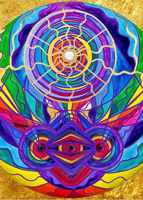 Vibration Greeting Card featuring the painting Raise Your Vibration by Teal Eye Print Store