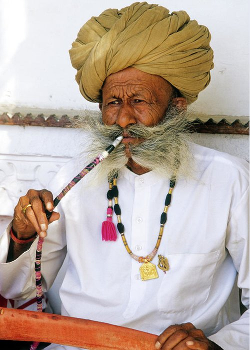 India Greeting Card featuring the photograph Rajasthani Elder by Michele Burgess