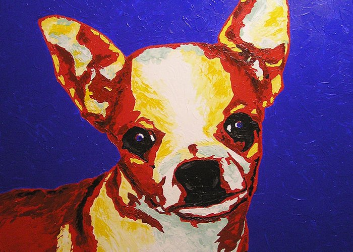 Dog Greeting Card featuring the painting Random Dog Number 2 by Ricklene Wren